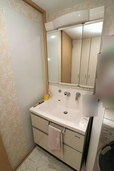 洗面化粧台 洗面脱衣室:シャワー付き洗面化粧台で忙しい朝も安心