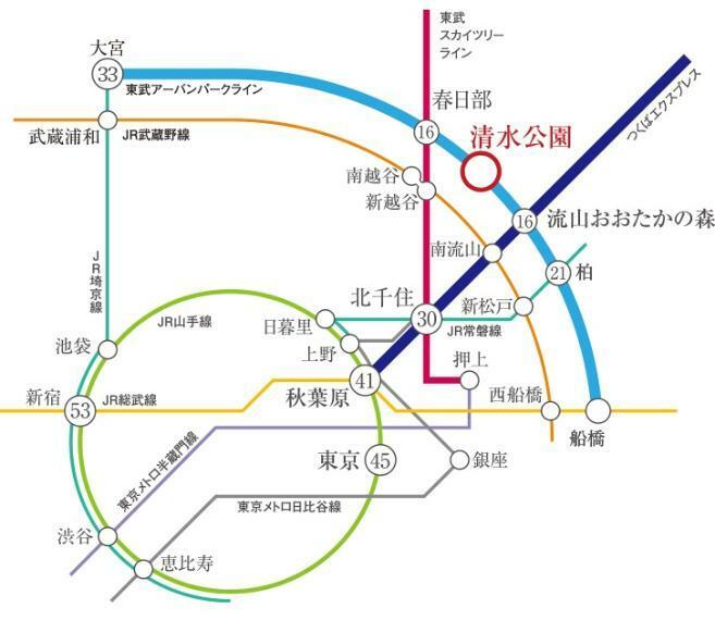 土地図面 アクセス図