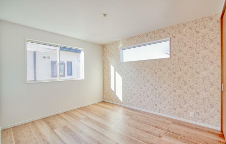 寝室 NO.3 主寝室にはアクセントクロスを採用。