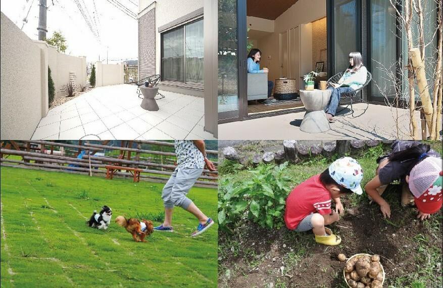 参考プラン間取り図 【イメージ】 お庭では、家庭菜園や、ガーデニング、週末のアウトドア、お家キャンプなどが楽しめます。広々とした敷地を活かして理想の暮らしを実現しませんか。