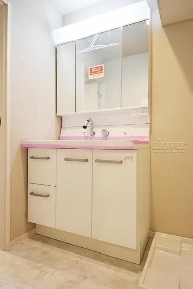 洗面化粧台 独立洗面台 三面鏡 収納充実