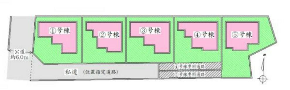 区画図 全体配置図 駐車スペース有