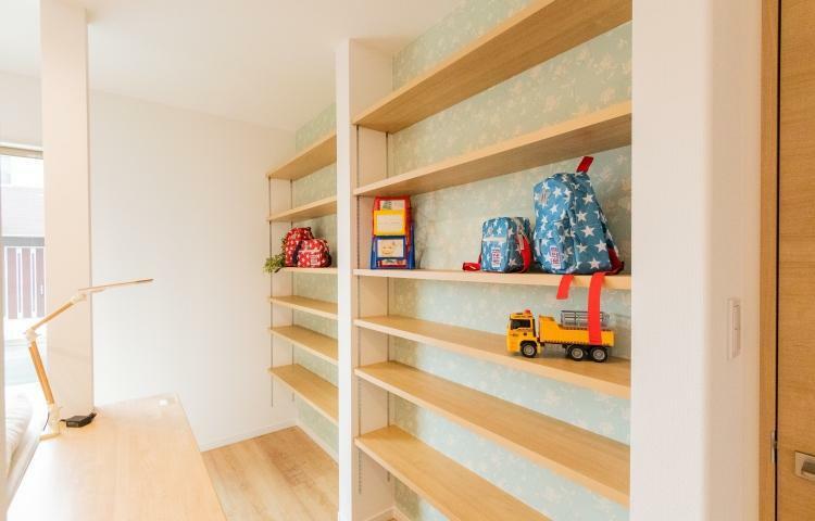 収納 リビングの壁面収納は趣味やお子様のステージに応じて、色々な使い方ができます。