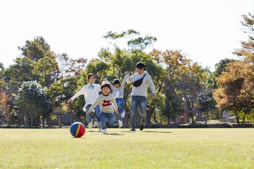 公園 分譲地の隣には「新居文化公園」があるため、ボール遊びやかけっこ等、子供たちがのびのびと遊べます。(写真:新居文化公園)