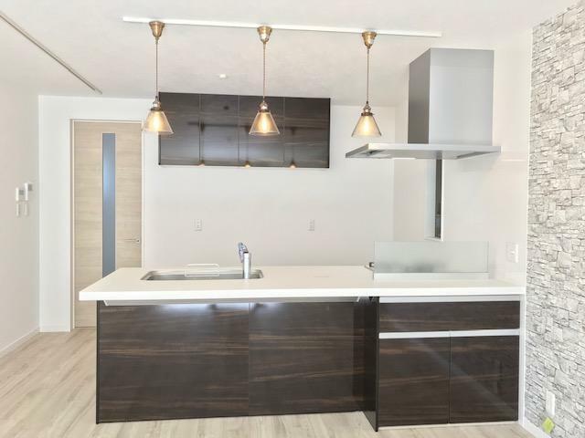 キッチン 弊社施工例:室内(2020年10月)撮影 オープンキッチンで広々空間!!