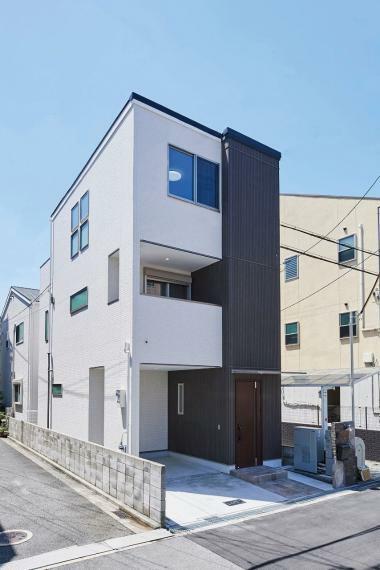 参考プラン完成予想図 施工例■お家の縦ラインをそろえることで外観も意識したプラン作りをしています。長く住むお家なので外観もデザイン性をもたせました。