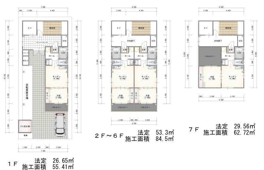 区画図 建物プラン例