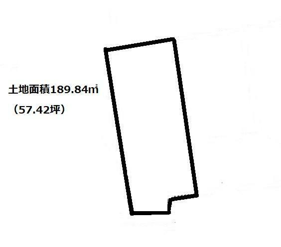 区画図 土地面積189.84平米(57.42坪)