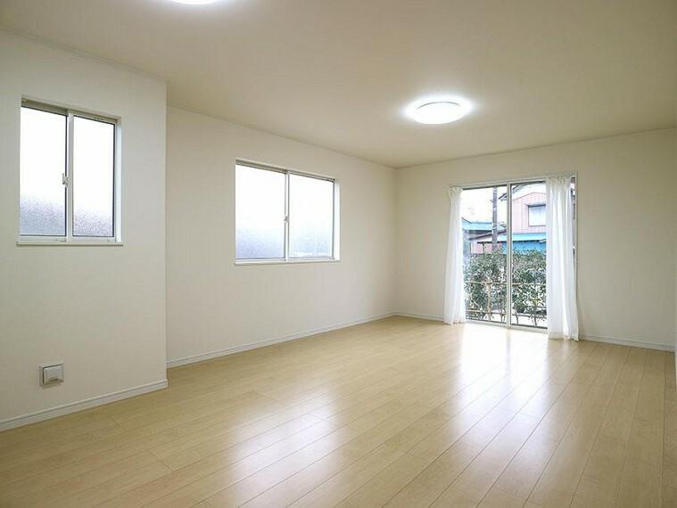 居間・リビング ~living room~  開放感と採光にこだわった17.5帖のLDK