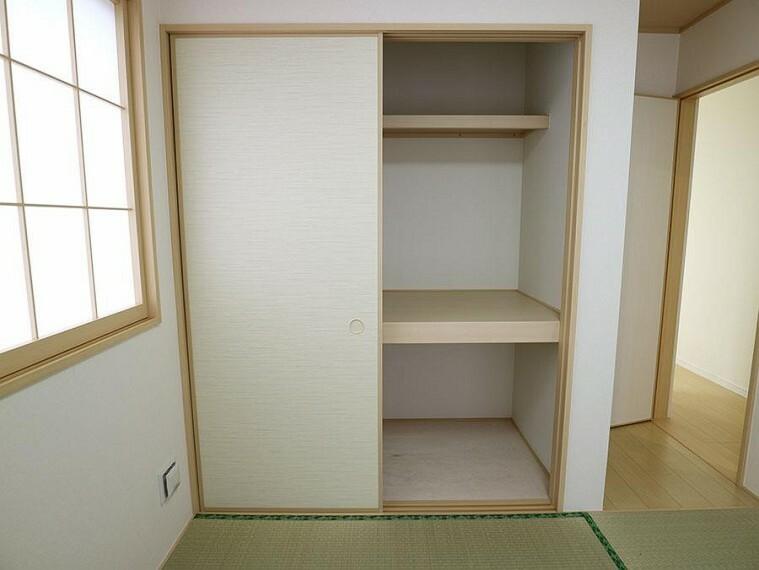 収納 ~Japanese‐style room~  お客様がいらした時、お子様の遊び場、寝室など和室があるのは嬉しいですね