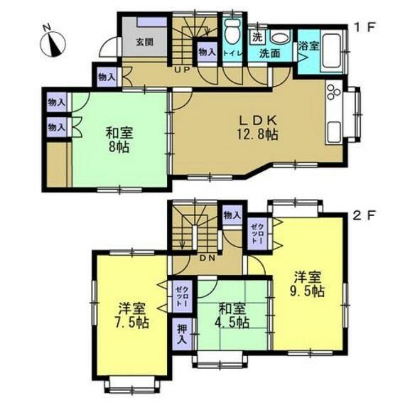 間取り図 (リフォーム後)4LDKの間取りの住宅です。南側にある明るいLDKが自慢のおうちです。