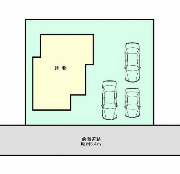 区画図 【敷地図】駐車場のイメージになります。