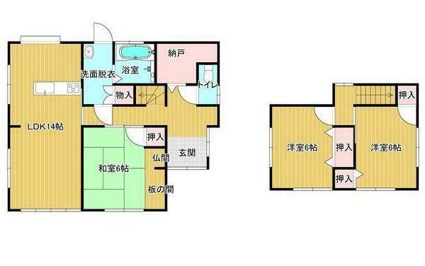 間取り図 近所に気兼ねせずに暮らしたい方におすすめの一戸建て。