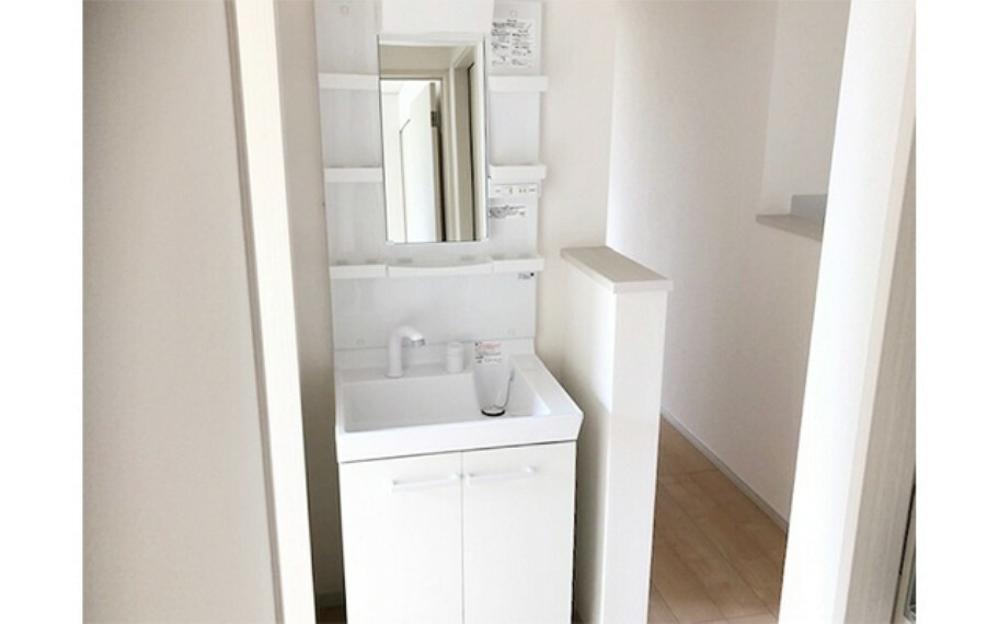 洗面化粧台 現地写真:2階洗面(2号棟)
