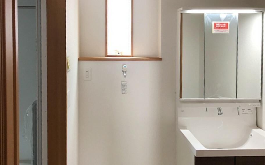 洗面化粧台 現地写真:洗面(1号棟)