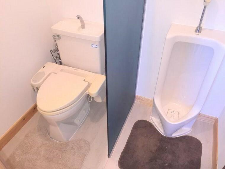 トイレ 洗面横の2WAYトイレ