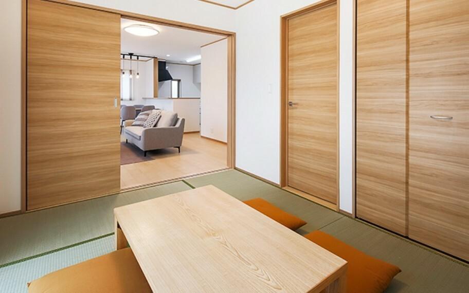 和室 現地写真:洋室畳敷(6号棟)