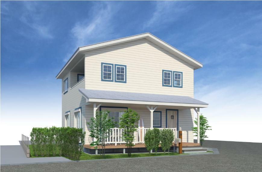 完成予想図(外観) カリフォルニアスタイルの家