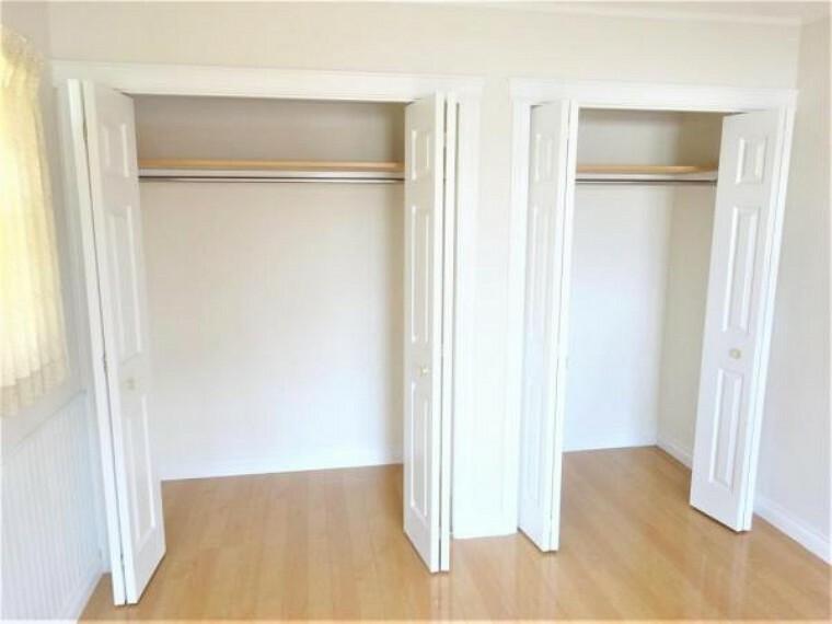 収納 各部屋に収納付き。お部屋を広く使えます。