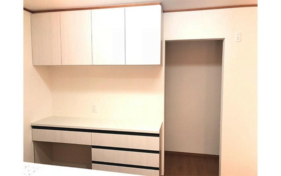 キッチン 現地写真:カップボード(1号棟)