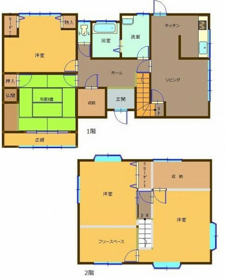 間取り図 【リフォーム中】ゆとりの4SLDK、各部屋に収納充実。一人一部屋が叶う間取りです。