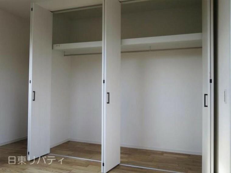 洋室 全室収納完備の暮らしやすい間取り。