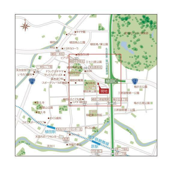 土地図面 現地広域図
