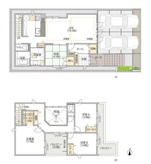間取り図 A棟モデルハウス 間取図