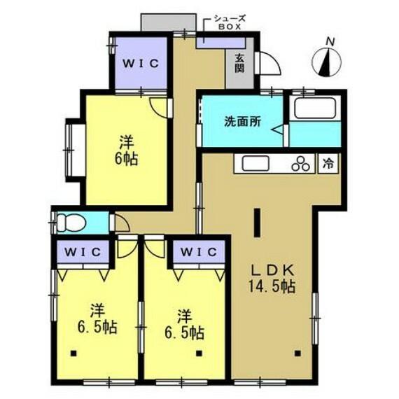 間取り図 【リフォーム後間取り図】間取り変更を行い、LDK作成、浴室1坪拡張などリフォームしました。お客様の住みやすさを考え、清潔で安心できるお家に生まれ変わりましたよ。