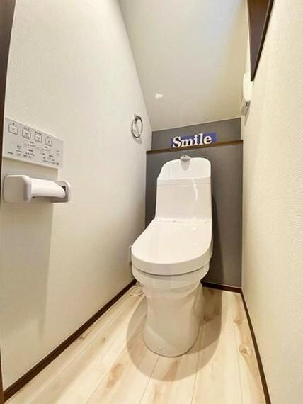 トイレ いつも清潔にお使いいただけるよう、ウォシュレットの操作パネルは壁付けリモコンになってます