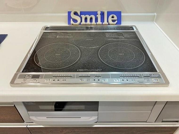 キッチン 火事のリスクの少ないIHクッキングヒーター