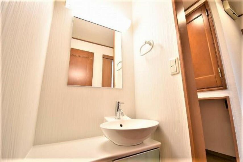 洗面化粧台 1階洗面台!