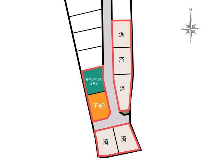 区画図 15号地モデルハウス