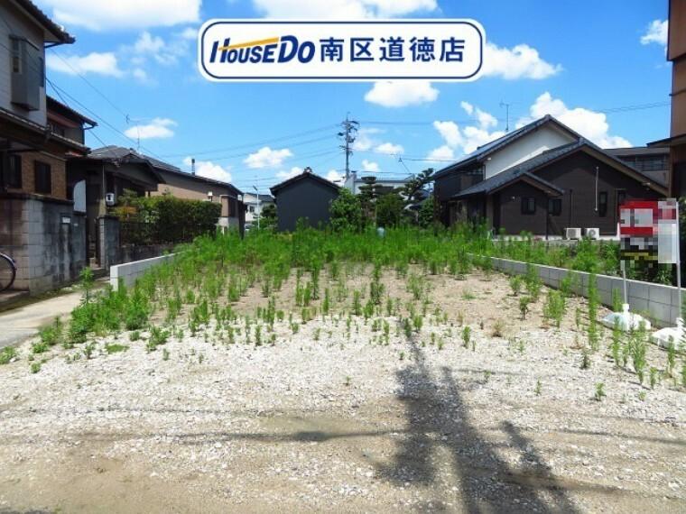 現況写真 約45.60坪の土地面積です。間口が約7.0mあります。 名古屋市営バス「上浜」停まで徒歩約3分の距離に立地です。 (2021年6月17日撮影)