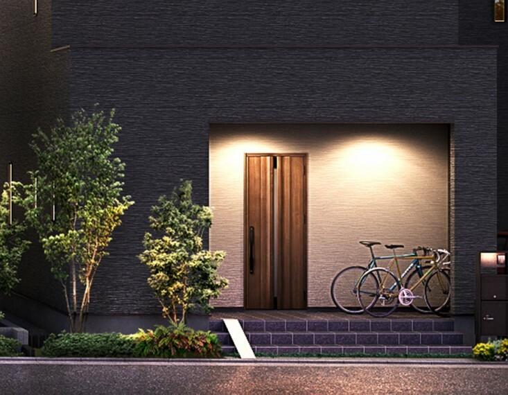 """SMART CYCLE LIFE  """"BASE88""""は、サイクルスペースを中心に考え、新しい空間を提案する住まい。都会の生活に欠かせない自転車と暮らす。その毎日にもっと快適をプラスします。"""