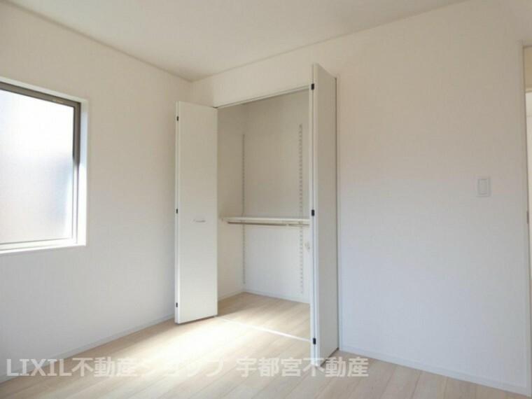 収納 各居室に収納があるため、お部屋がスッキリ広くお使え頂けます!