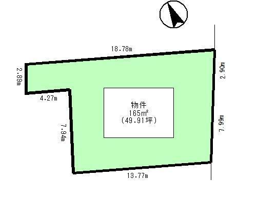 区画図 165平米(49.91坪)
