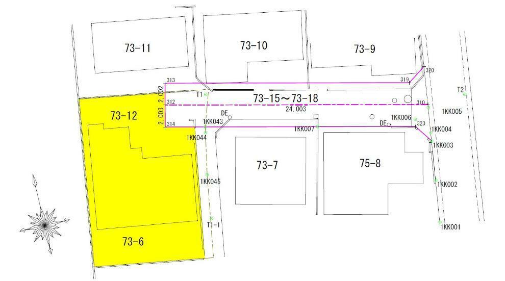 区画図 測量図:敷地面積(実測)148.78m2