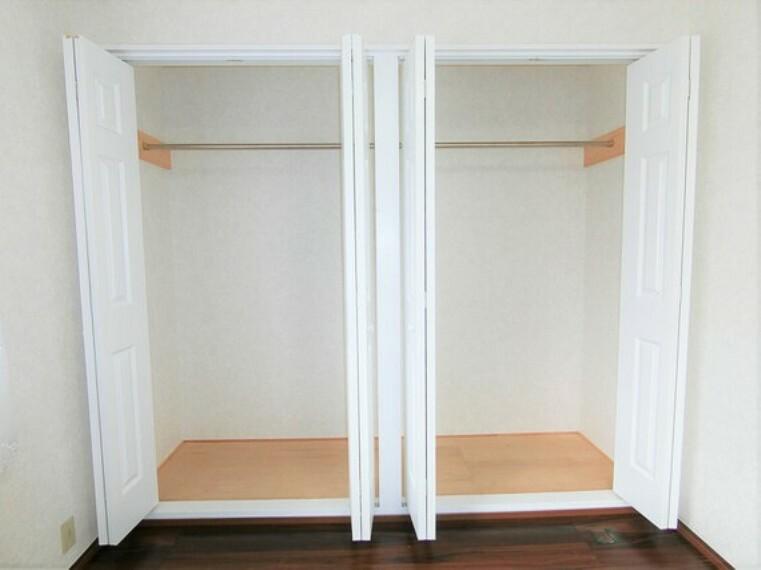 収納 クローゼット2ヶ所完備で、お部屋の生活スペースが有効的に使えますね。