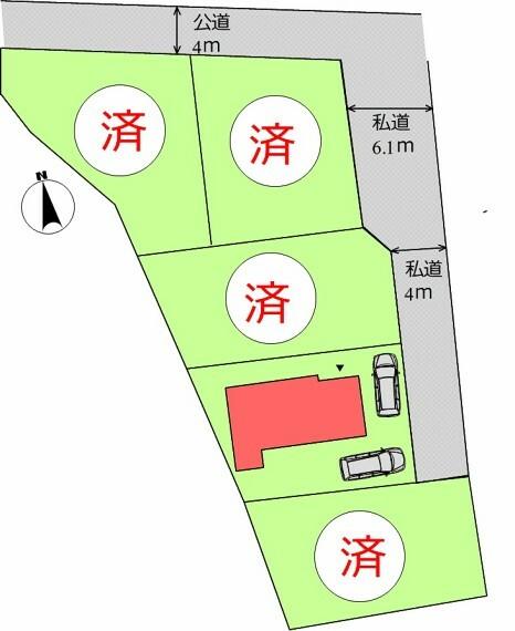 区画図 (区画)2台駐車可能!友達や家族も招きやすいですね^^