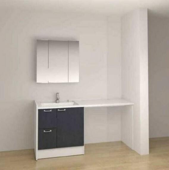 洗面化粧台 (洗面台)何かと物が増えがちな洗面台周りもたっぷり収納!カウンターもあり洗面台周りスッキリ!