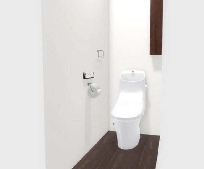 トイレ (トイレ)フチが無いのでサッと一拭きでお掃除楽々!