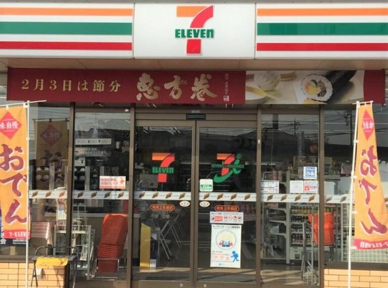 コンビニ 【コンビニエンスストア】セブンイレブン阿見上本郷店まで414m