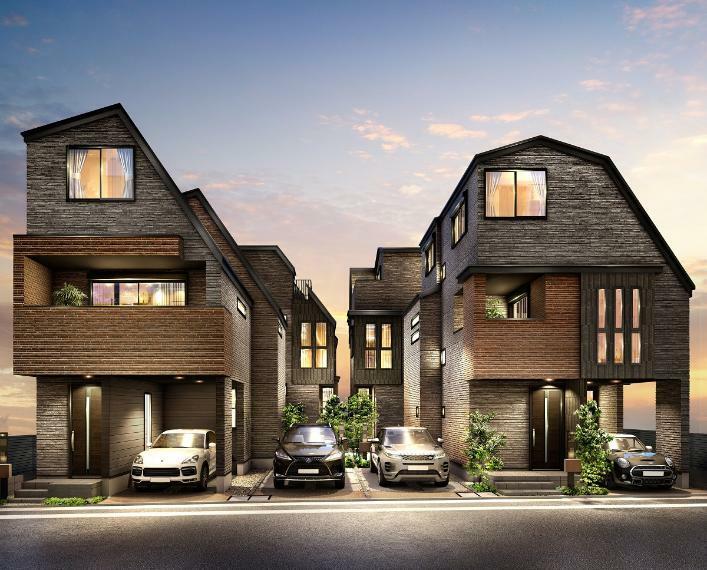 完成予想図(外観) 閑静な住宅街に佇む上質を纏う全8邸の街。【レーベンプラッツ船堀ELFIS】誕生。