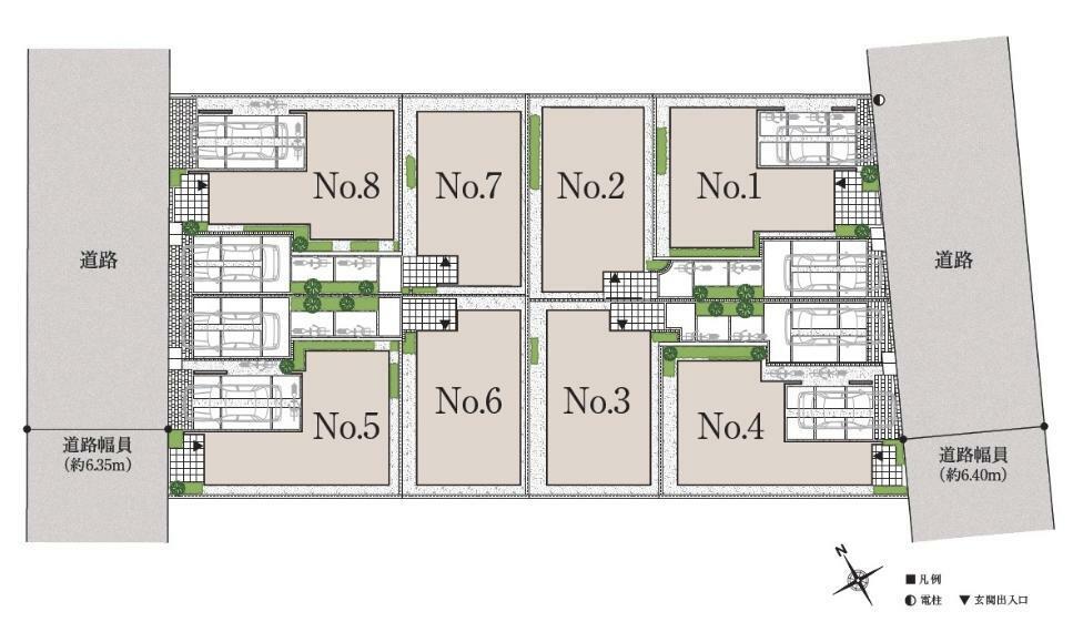 区画図 ※販売中住戸については概要欄よりご確認ください。※掲載の敷地配置図は図面を基に描き起こしたもので、実際とは異なる場合がございます。