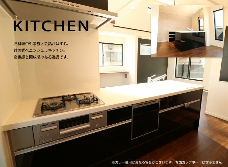 構造・工法・仕様 背面もオシャレなペニンシュラ型システムキッチン(食洗機、ビルトイン浄水器付)