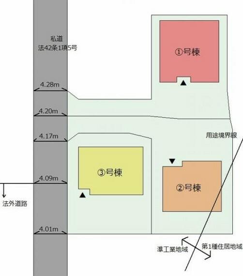 区画図 【配置図】カースペース2台可能!