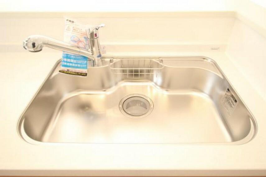 浄水器一体型の水栓が標準仕様