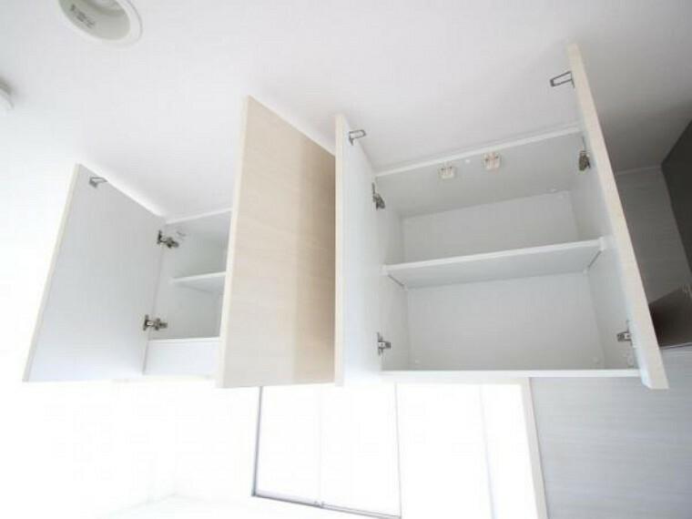 収納 キッチンの吊戸棚です