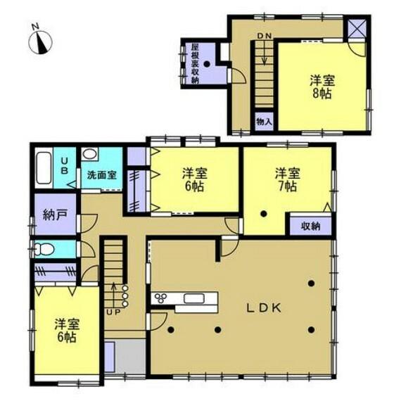 間取り図 【リフォーム後】間取りはファミリーにお勧めの4LDK。各部屋に収納があるので片付けラクラクです。